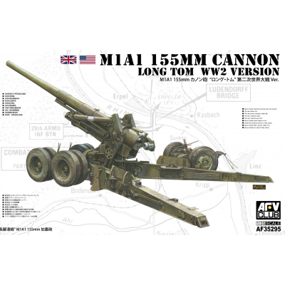 """M1A1 155mm Cannon """"Long Tom"""" WWII version"""