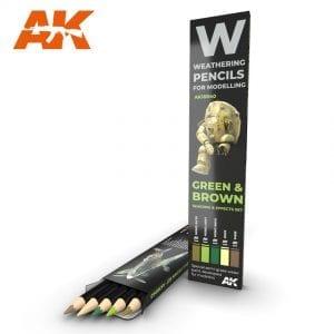 Weathering Pencils: Green & Brown
