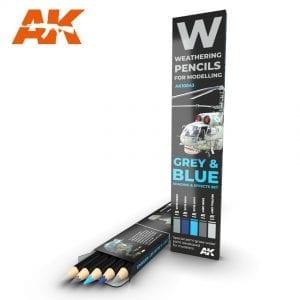 Weathering Pencils: Grey & Blue