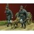WWI Belgian Dog drawn Cart with Crew