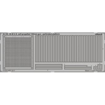 U.S. Perforated platform for M40 self-propelled 155 mm gun
