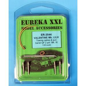 Valentine Mk. I, II, IV Towing cables & gun barrel QF 2 pdr Mk.IX