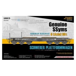 German Railway Schwerer Plattformwagen SSyms 6 (Axle) 80t